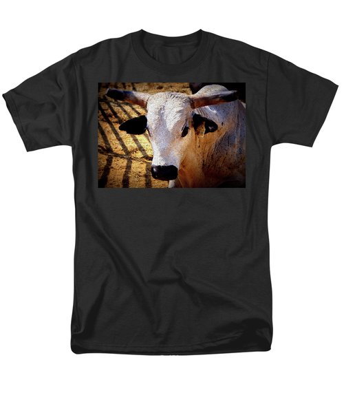 Bull Riders - Nightmare - Rodeo Bull Men's T-Shirt  (Regular Fit) by Travis Truelove