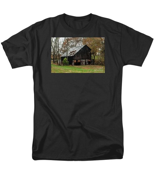 Men's T-Shirt  (Regular Fit) featuring the photograph Burley Tobacco  Barn by Debbie Green