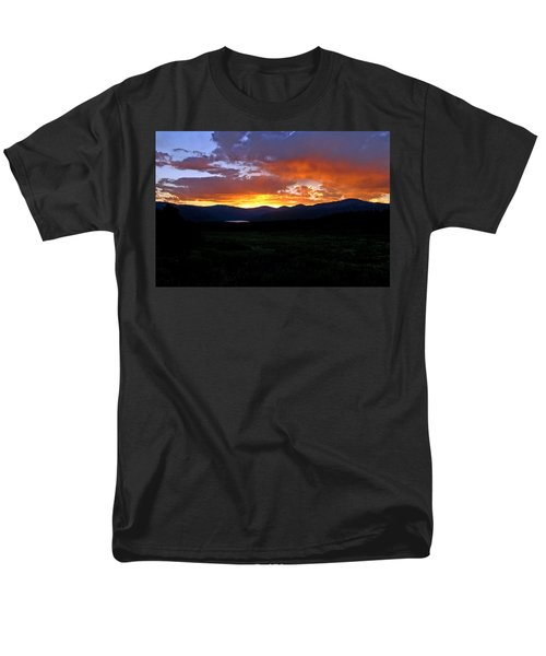 Men's T-Shirt  (Regular Fit) featuring the photograph Burning Of Uncertainty by Jeremy Rhoades