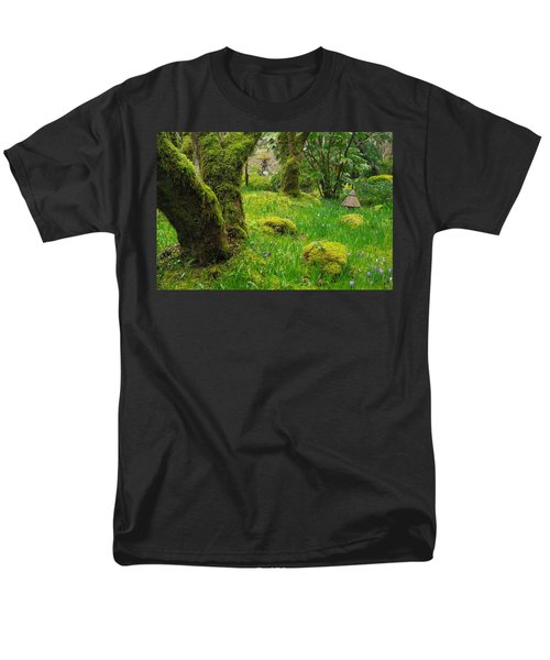 Men's T-Shirt  (Regular Fit) featuring the photograph Butchart Gardens - Vancouver Island by Marilyn Wilson