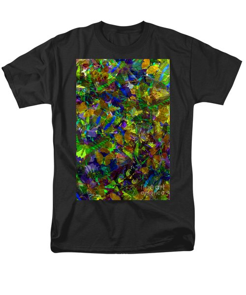 Men's T-Shirt  (Regular Fit) featuring the photograph Butterfly Collage Yellow by Robert Meanor