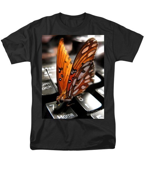 Men's T-Shirt  (Regular Fit) featuring the photograph Butterfly Home At 7 by Jennie Breeze