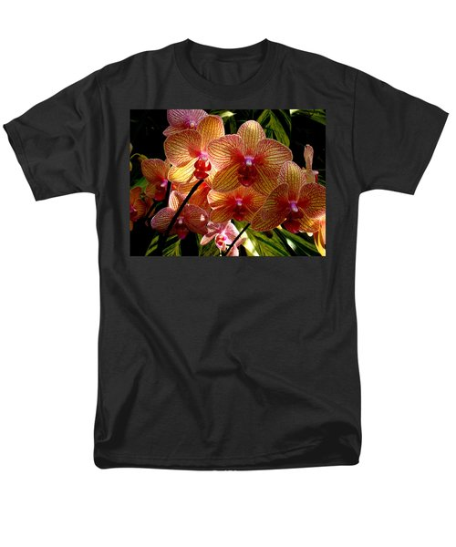 Men's T-Shirt  (Regular Fit) featuring the photograph Butterfly Orchids by Rodney Lee Williams