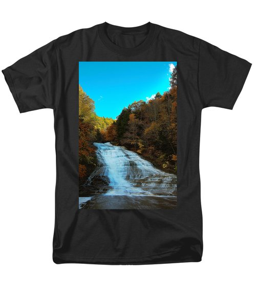 Men's T-Shirt  (Regular Fit) featuring the photograph Buttermilk Falls Ithaca New York by Paul Ge