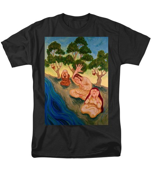 By The Rivers Of Babylon - Psalm 137 Men's T-Shirt  (Regular Fit) by Michele Myers