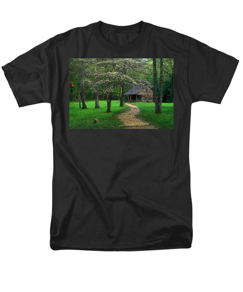 Men's T-Shirt  (Regular Fit) featuring the photograph Cabin In Cades Cove by Rodney Lee Williams