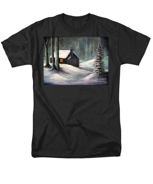 Cabin In The Woods Men's T-Shirt  (Regular Fit) by Hazel Holland