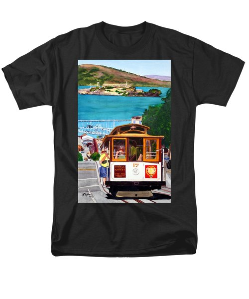 Cable Car No. 17 Men's T-Shirt  (Regular Fit) by Mike Robles