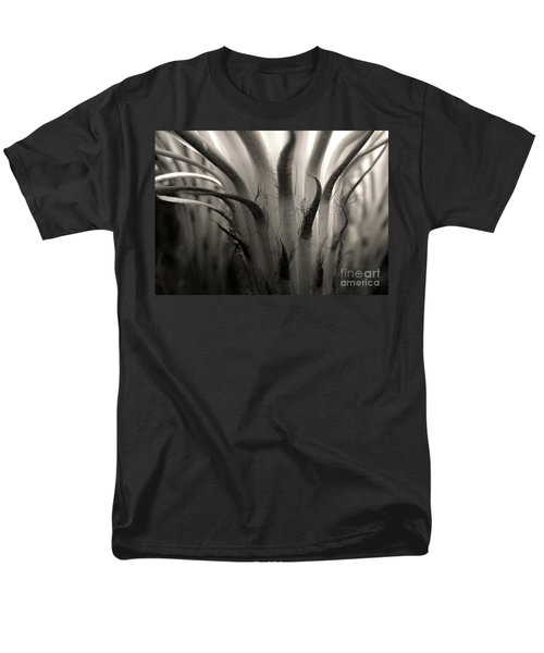 Cactus Bloom In Sepia Men's T-Shirt  (Regular Fit) by Ellen Cotton
