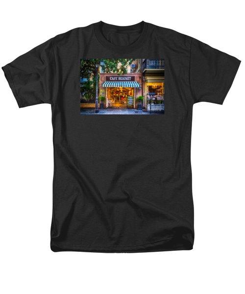 Cafe Beignet Morning Nola Men's T-Shirt  (Regular Fit) by Kathleen K Parker