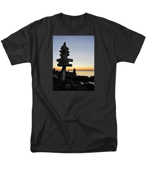 Cairns At Sunset At Door Bluff Headlands Men's T-Shirt  (Regular Fit) by David T Wilkinson