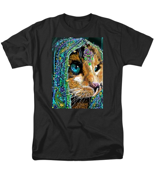Calico Indian Bride Cats In Hats Men's T-Shirt  (Regular Fit) by Michele Avanti