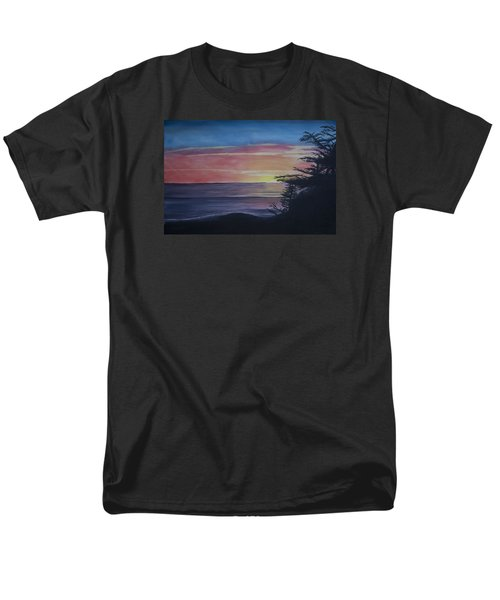 Men's T-Shirt  (Regular Fit) featuring the painting Cambria Setting Sun by Ian Donley