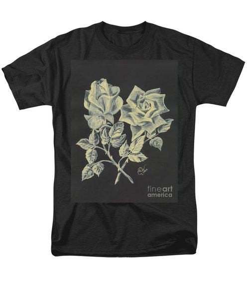 Men's T-Shirt  (Regular Fit) featuring the painting Cameo Rose by Carol Wisniewski