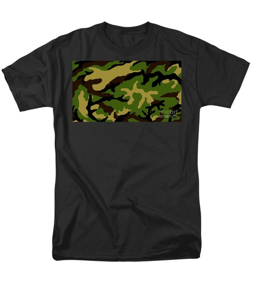 Men's T-Shirt  (Regular Fit) featuring the painting Camouflage Military Tribute by Roz Abellera Art