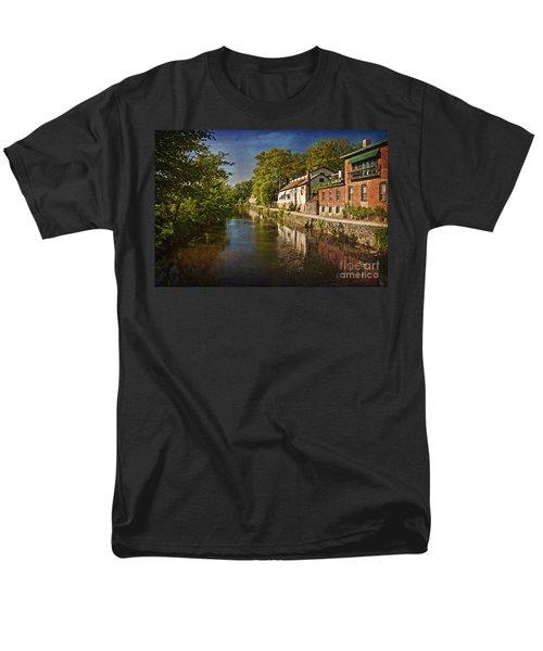 Canal Along The Porkyard Men's T-Shirt  (Regular Fit) by Debra Fedchin