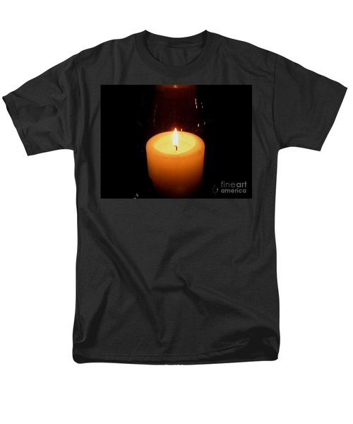 Men's T-Shirt  (Regular Fit) featuring the photograph Candlelight Moments by Joseph Baril