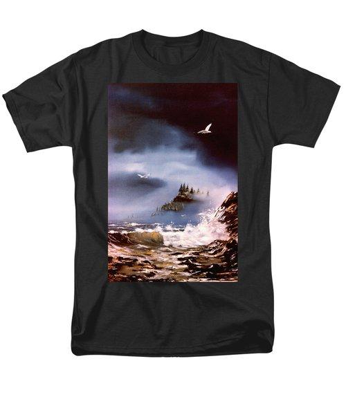 Cannon Beach Oregon Men's T-Shirt  (Regular Fit) by Craig T Burgwardt
