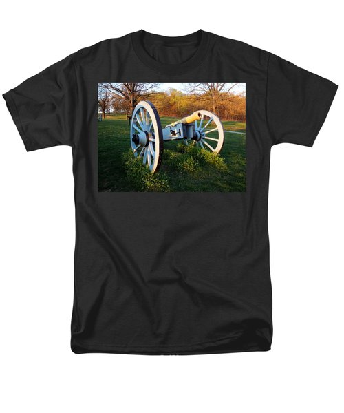 Cannon In The Grass Men's T-Shirt  (Regular Fit) by Michael Porchik