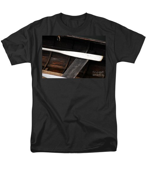 Men's T-Shirt  (Regular Fit) featuring the photograph Canoe And Oar by Mary Carol Story