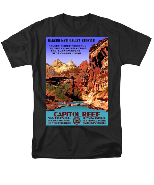 Capitol Reef National Park Vintage Poster Men's T-Shirt  (Regular Fit) by Eric Glaser