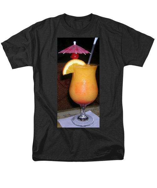 Men's T-Shirt  (Regular Fit) featuring the photograph Caribbean Fuzzy Peach Naval by Emmy Marie Vickers