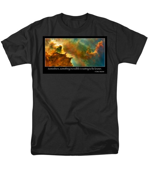 Carl Sagan Quote And Carina Nebula 3 Men's T-Shirt  (Regular Fit) by Jennifer Rondinelli Reilly - Fine Art Photography