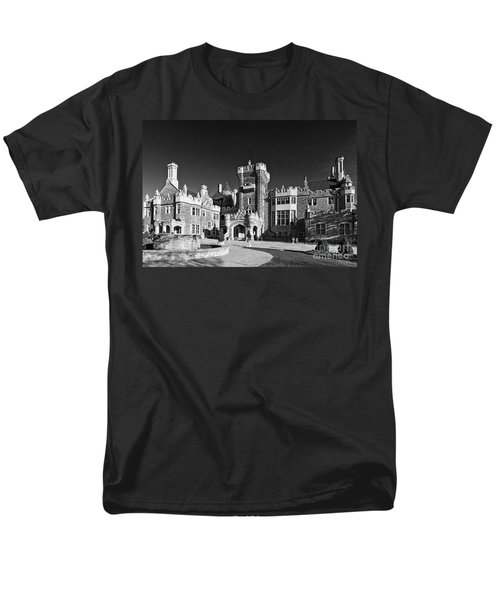 Casa Loma In Toronto In Black And White Men's T-Shirt  (Regular Fit) by Les Palenik