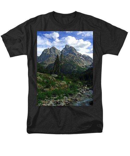 Men's T-Shirt  (Regular Fit) featuring the photograph Cascade Creek The Grand Mount Owen by Raymond Salani III