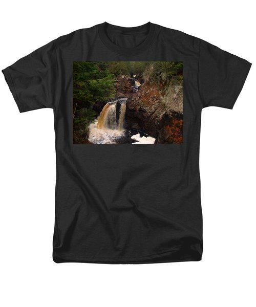 Cascade River Men's T-Shirt  (Regular Fit) by James Peterson