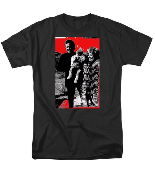 Men's T-Shirt  (Regular Fit) featuring the photograph Cash Family In Red Old Tucson Arizona 1971-2008 by David Lee Guss
