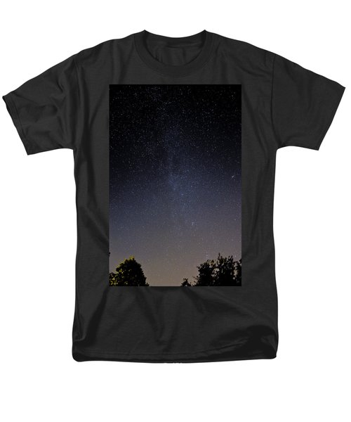 Men's T-Shirt  (Regular Fit) featuring the photograph Cassiopeia And Andromeda Galaxy 01 by Greg Reed