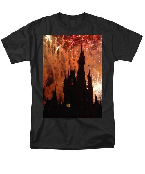 Men's T-Shirt  (Regular Fit) featuring the photograph Castle Fire Show by David Nicholls