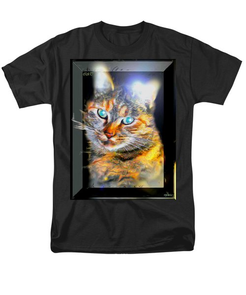 Men's T-Shirt  (Regular Fit) featuring the digital art Cat by Daniel Janda