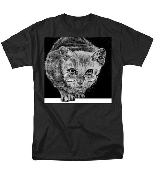 Cat In Glasses  Men's T-Shirt  (Regular Fit) by Jean Cormier