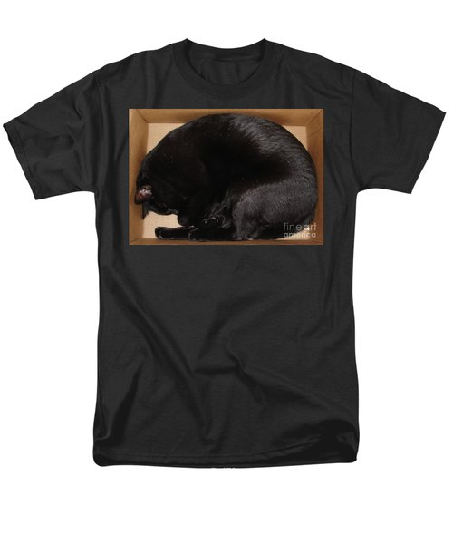 Men's T-Shirt  (Regular Fit) featuring the photograph Cat In The Box by Kerri Mortenson