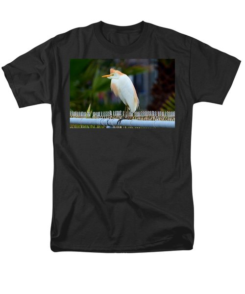 Men's T-Shirt  (Regular Fit) featuring the photograph Cattle Egret Breeding Plumage by Debra Martz