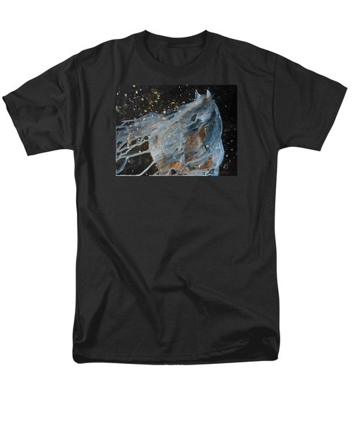 Men's T-Shirt  (Regular Fit) featuring the painting Celestial Stallion  by Jani Freimann