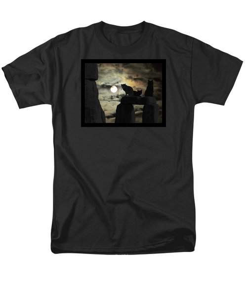 Men's T-Shirt  (Regular Fit) featuring the photograph Celtic Nights Selective Coloring by I'ina Van Lawick