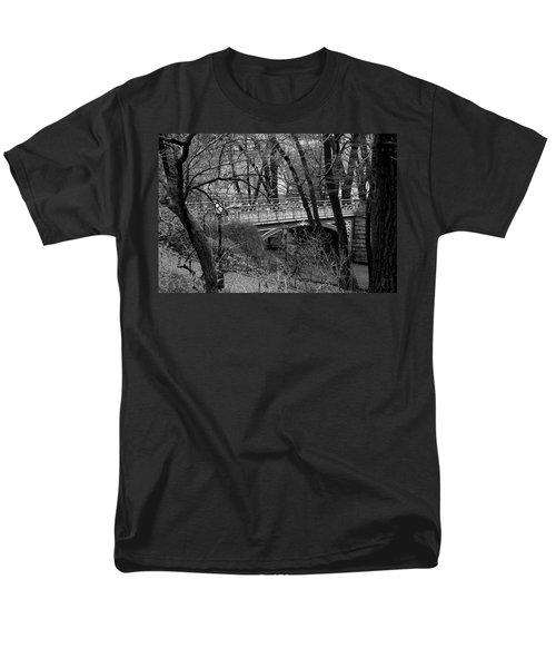 Central Park 2 Black And White Men's T-Shirt  (Regular Fit) by Chris Thomas