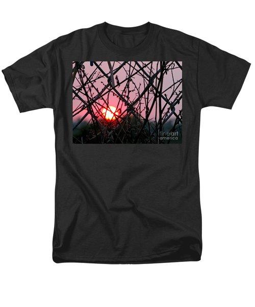 Men's T-Shirt  (Regular Fit) featuring the photograph Chain Link Sunset by Jennie Breeze