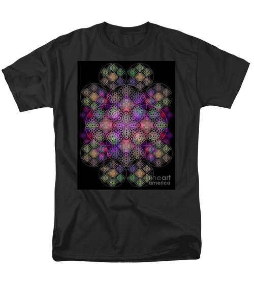 Men's T-Shirt  (Regular Fit) featuring the digital art Chalice Cell Rings On Black Dk29 by Christopher Pringer