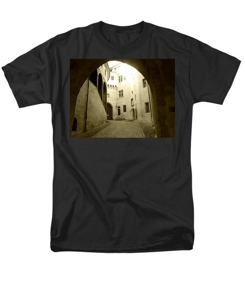 Chambery France Gate Men's T-Shirt  (Regular Fit) by Katie Wing Vigil