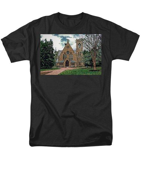 Chapel At University Of Virginia Men's T-Shirt  (Regular Fit) by Jerry Gammon