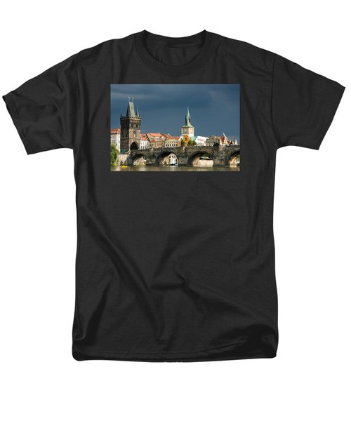 Charles Bridge Prague Men's T-Shirt  (Regular Fit) by Matthias Hauser