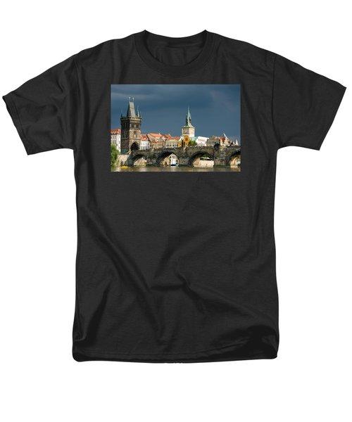 Charles Bridge Prague Men's T-Shirt  (Regular Fit) by Matthias Hauser