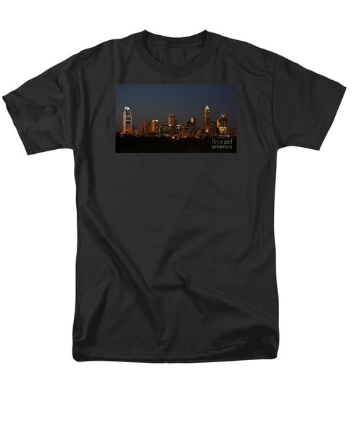 Charlotte City Skyline At Sunset Men's T-Shirt  (Regular Fit) by Kevin McCarthy
