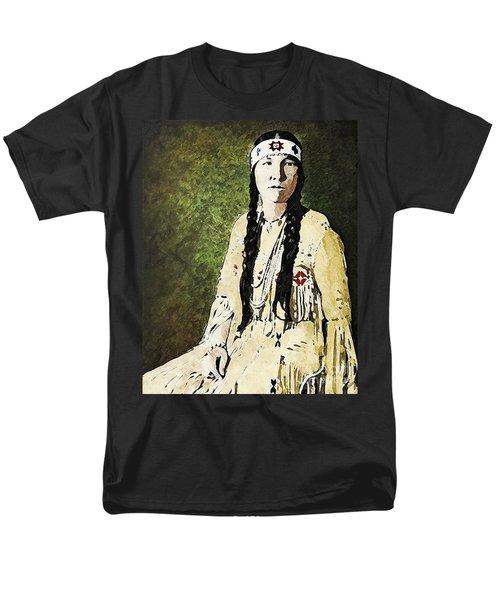 Men's T-Shirt  (Regular Fit) featuring the digital art Cherokee Woman by Lianne Schneider