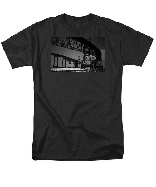 Chesapeake Bay Bridge At Annapolis Men's T-Shirt  (Regular Fit) by Skip Willits
