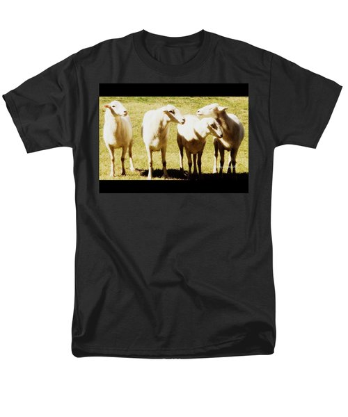 Men's T-Shirt  (Regular Fit) featuring the photograph Cheviot Sheep by Kathy Barney